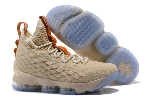 Cheap Wholesale Lebrons Nike Lebron 15 Cream Gold
