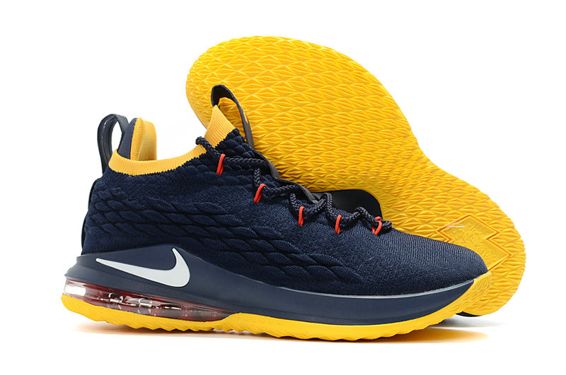 b45ddc78fc52 Cheap Lebrons Nike Lebron 15 Low Navy Blue Yellow White Red - China ...