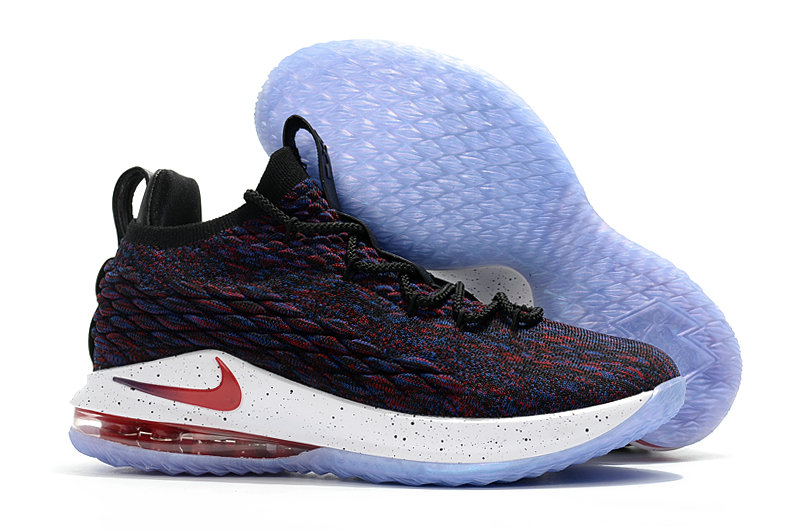 Cheap Lebrons Nike Lebron 15 Low Wine Red Blue White