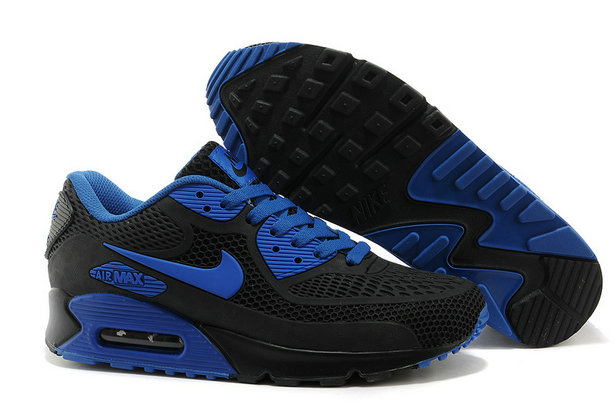 Cheap Wholesale Mens Nike Air Maxs 90 Blue Black