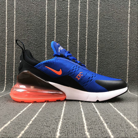 17e0a6159a Wholesale Cheap NIKE AIR MAX 270 AH8050-401 Royal Blue Orange White Black