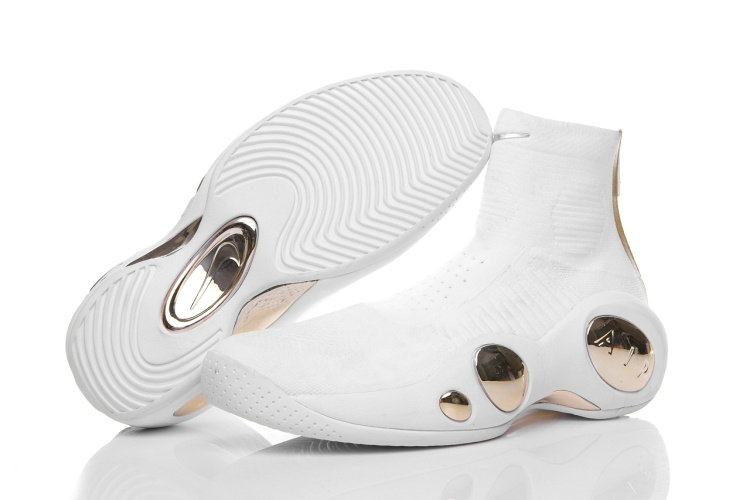 Cheap Wholesale NIKELAB Air Zoom Flight 95 Flyknit Gold White