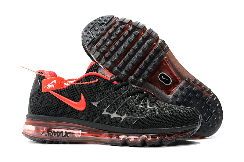Cheap Wholesale Newest Nike Air Max 2017 Mens Black Fire Red