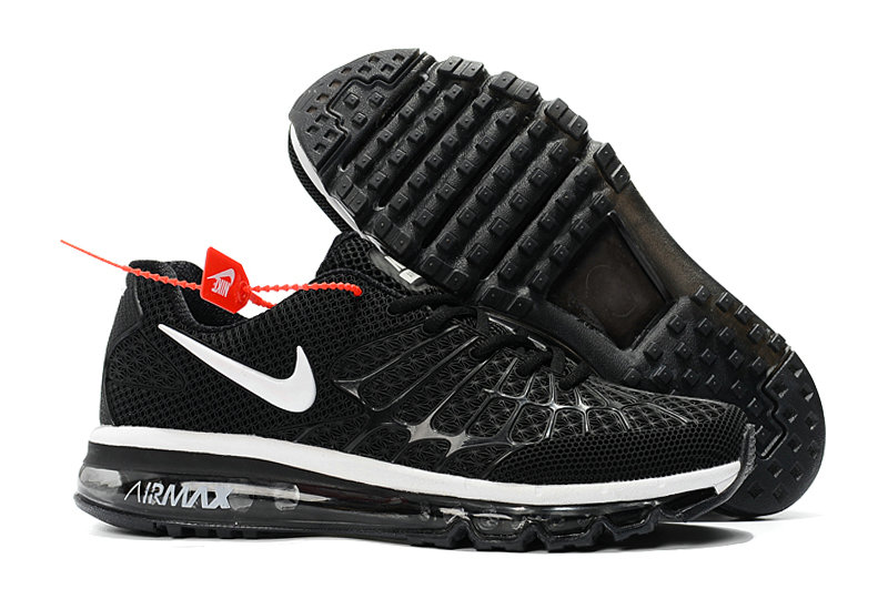Cheap Wholesale Newest Nike Air Max 2017 Mens Black White