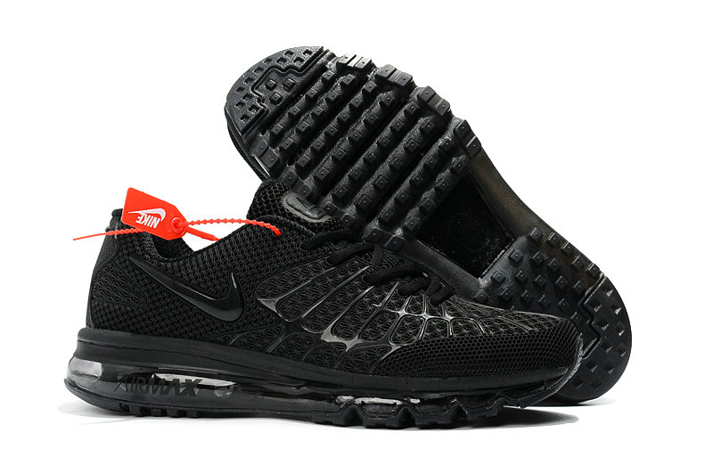 Cheap Wholesale Newest Nike Air Max 2017 Mens Triple Black
