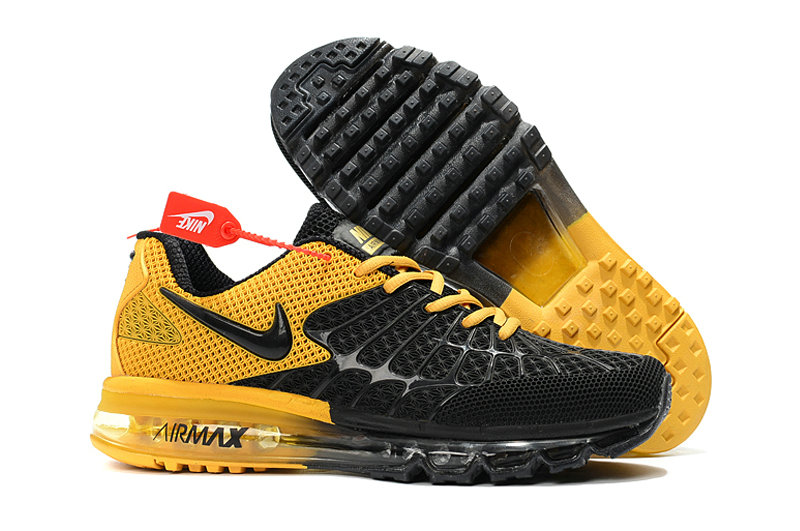 Cheap Wholesale Newest Nike Air Max 2017 Mens Yellow Black