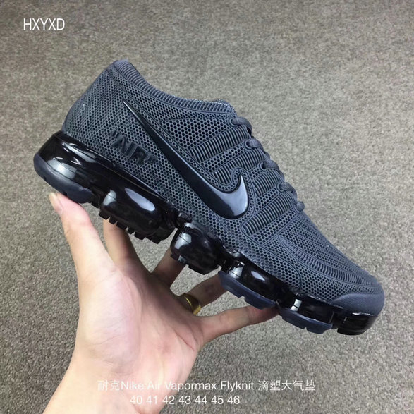 Cheap Wholesale Nike 2018 Nike Air 2018 Flyknit Grey Black Running