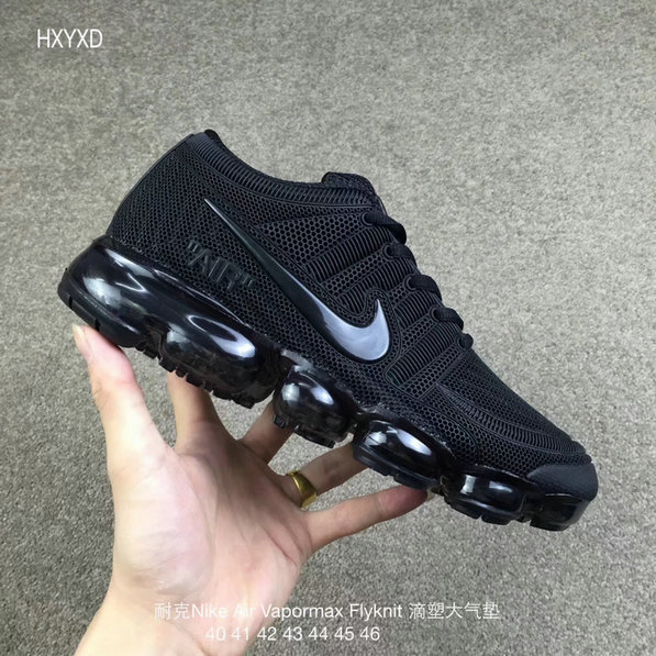 Cheap Wholesale Nike 2018 Nike Air 2018 Flyknit Total Black Running