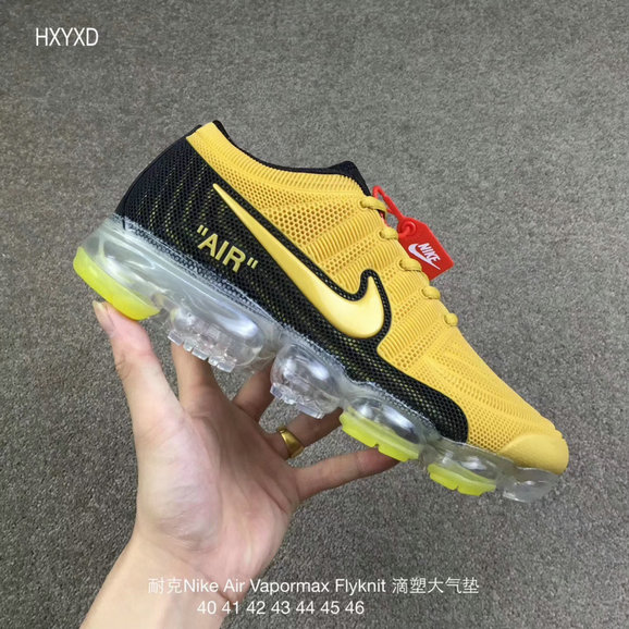 Cheap Wholesale Nike 2018 Nike Air 2018 Flyknit Yellow Black Running