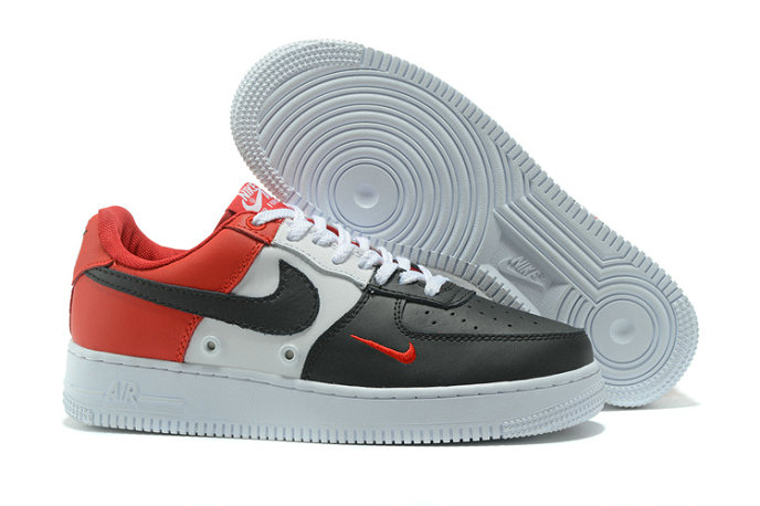 Cheap Wholesale Nike AF1 Mens Nike Air Force One Red White Black