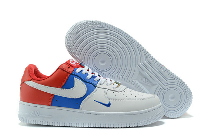 Cheap Wholesale Nike AF1 Mens Nike Air Force One Red White Blue