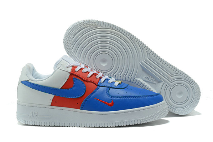 Cheap Wholesale Nike AF1 Mens Nike Air Force One White Blue Red