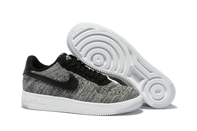 Nike AF1 Cheap Wholesale x Nike Air Force 1 Low Ultra Flyknit Midnight Fog Silt Red-Ivory-String