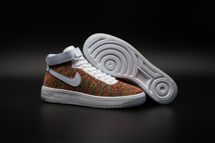 Nike AF1 Cheap Wholesale x Nike Air Force One Ultra Flyknit Mid Multicolor