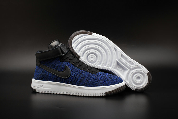 Nike AF1 Cheap Wholesale x Nike Air Force One Ultra Flyknit Mid Obsidian
