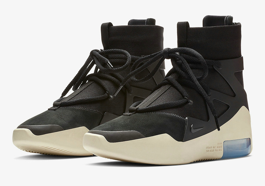 Wholesale Cheap Nike Air Fear of God 1 Black-Black AR4237-001