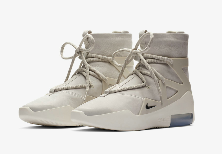 Wholesale Cheap Nike Air Fear of God 1 Light Bone Black AR4237-002