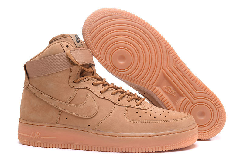 newest 26c4d 8827b Cheap Wholesale Nike Air Force 1 High AF1 Mens Wheat Yellow