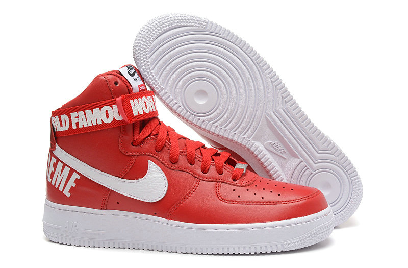 online store 9bc8c 259b5 Cheap Wholesale Nike Air Force 1 High Supreme Mens Red White