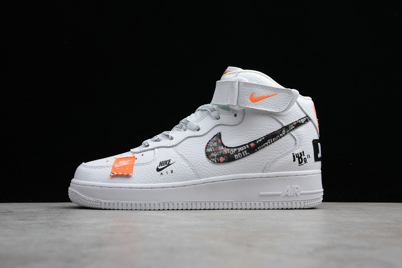 huge selection of 2622a dd8e0 Wholesale Cheap Nike Air Force 1 Mid Retro BQ6474-100 White Orange Joint  Name Blanc Orange Nom Commun