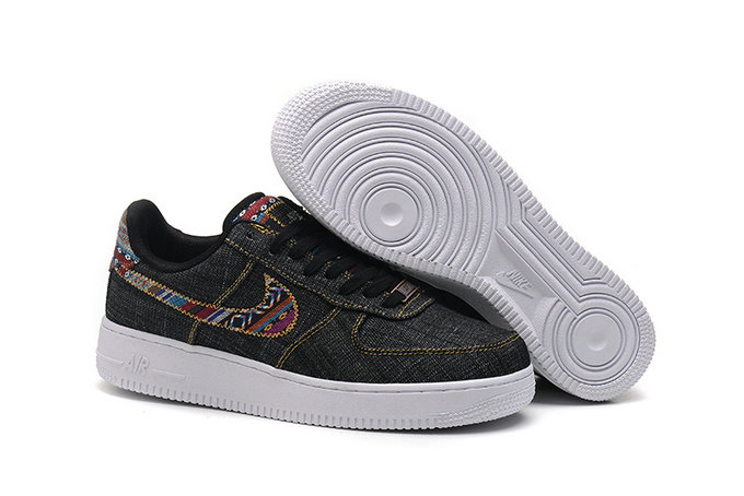 Cheap Wholesale Nike Air Force One Nike AF1 07 Mens Black Gold White