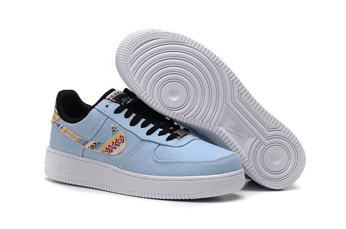 Cheap Wholesale Nike Air Force One Nike AF1 07 Mens Light Blue White