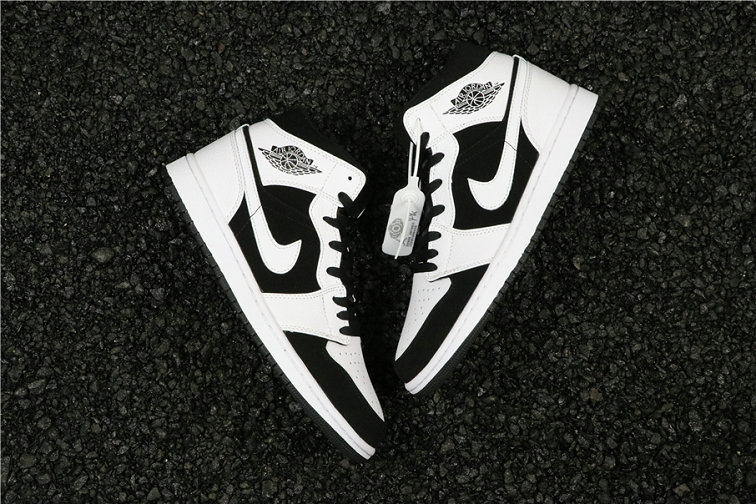 Wholesale Cheap Nike Air Jordan 1 Mid Tuxedo White Black 554724-113