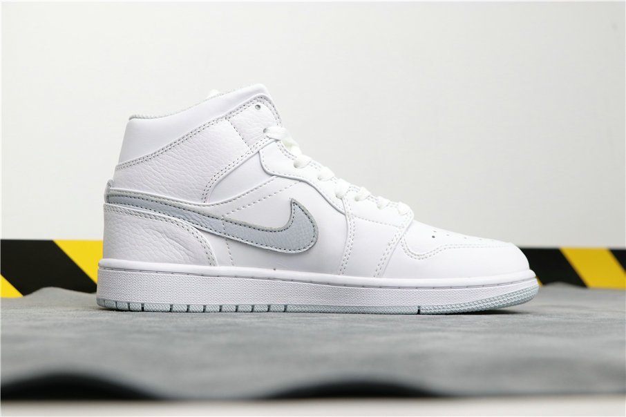 Wholesale Cheap Nike Air Jordan 1 Mid White Platinum 554724-108