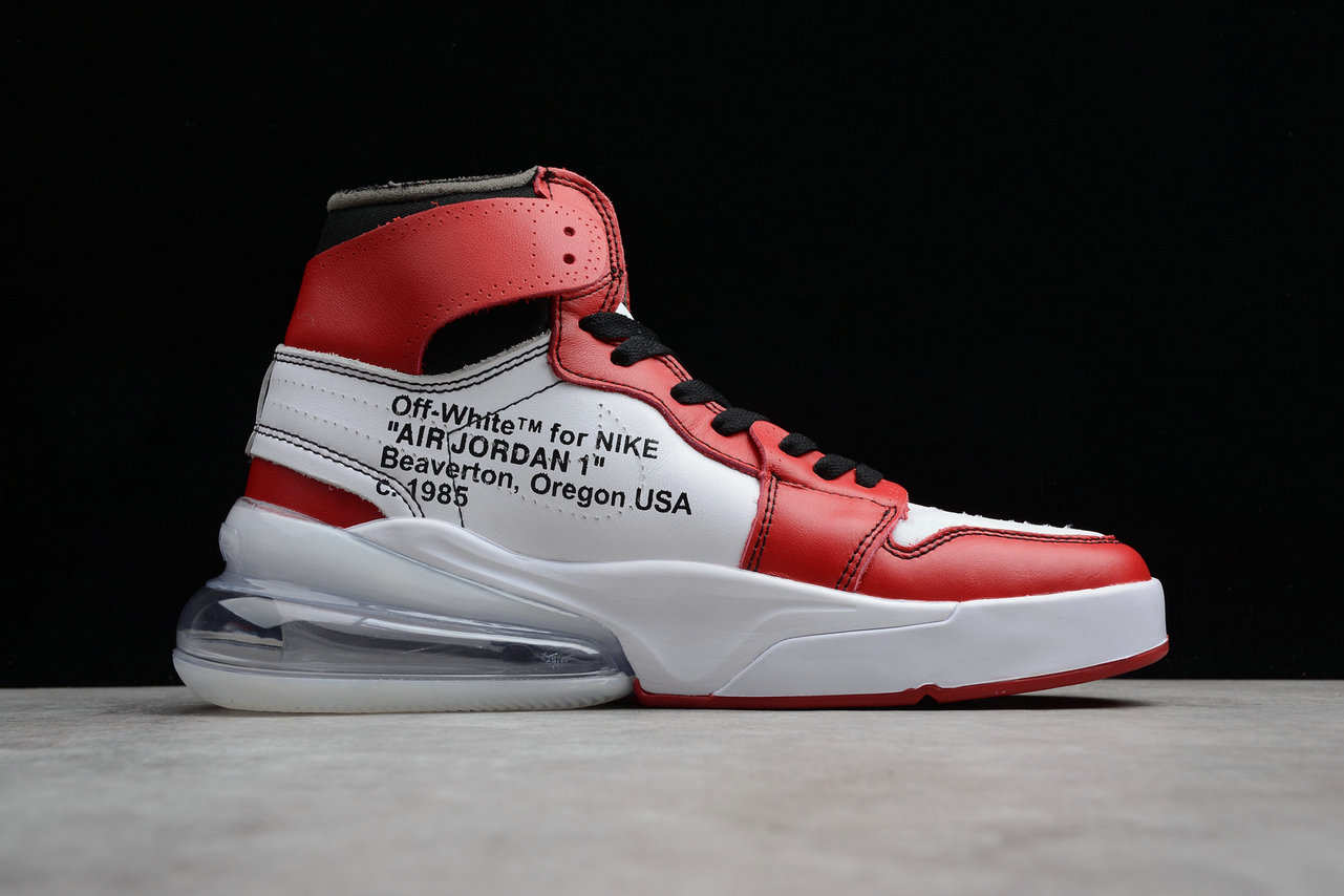 d12a5ae281c4f7 Wholesale Cheap Nike Air Jordan 1 OFF-WHITE NRG AA3834-101 Red Rice Yellow  Black Rouge Jaune Noir