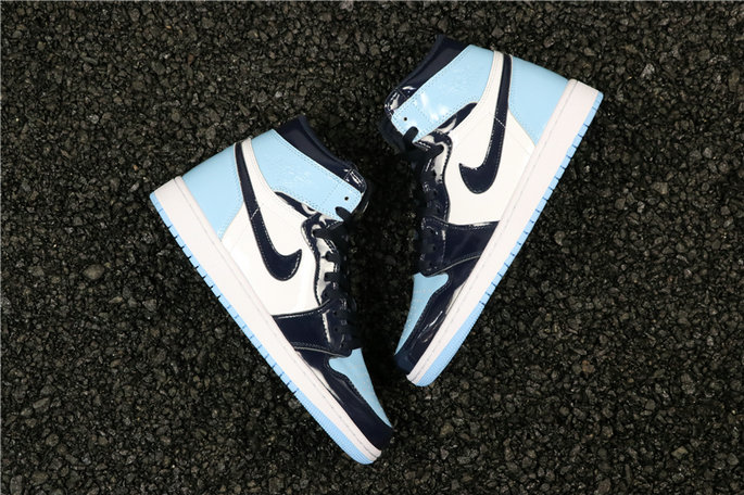 Wholesale Cheap Nike Air Jordan 1 UNC Patent Leather CD0461-401