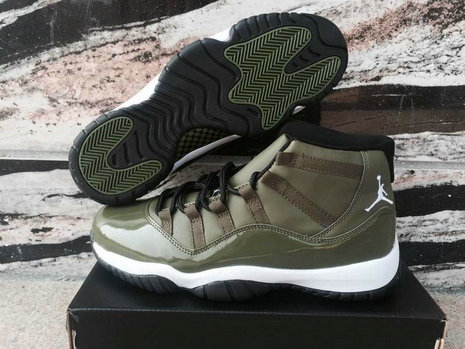 Cheap Wholesale Nike Air Jordan 11 XI Olive Green