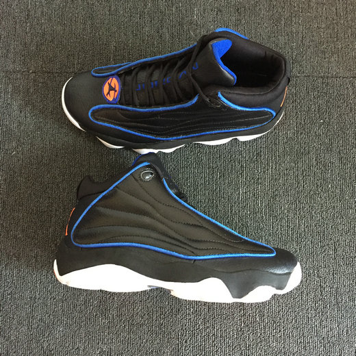 Wholesale Cheap Nike Air Jordan 13.5 Pro Strong Black Blue Orange White