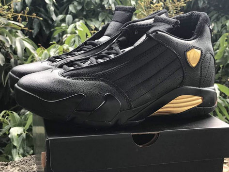 Cheap Wholesale Nike Air Jordan 14 XIV DMP Champion Black Gold