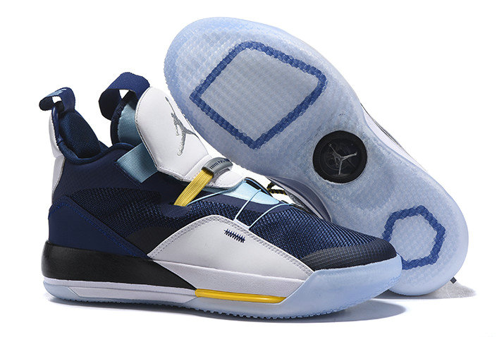 finest selection 4ce8f b7d6d Wholesale Cheap Nike Air Jordan 33 Navy Blue White-Mint Green-Yellow For  Sale