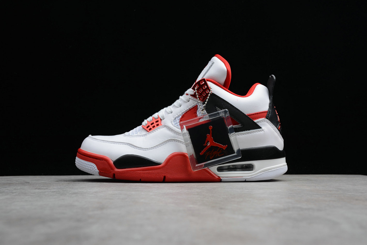 Wholesale Cheap Nike Air Jordan 4 Retro Fire Red 836011-107 Han Yubai Black Campus Red Noir Rouge
