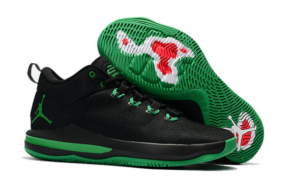 Cheap Wholesale Nike Air Jordan CP3 X Grass Green Black