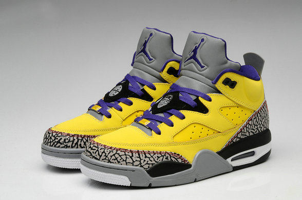 Cheap Wholesale Nike Air Jordan Son Of Low Yellow Black Purple Grey