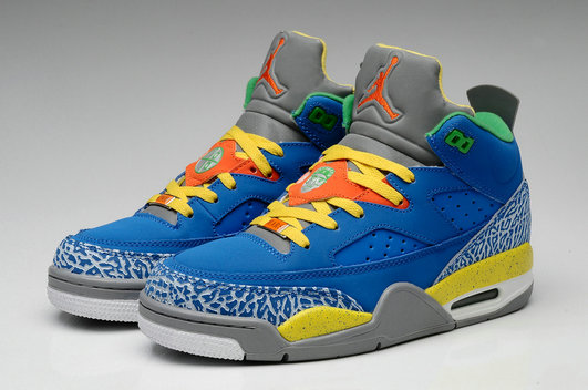 Cheap Wholesale Nike Air Jordan Son Of Low Yellow Blue Grey White