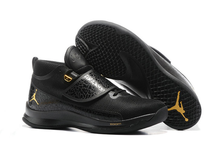 Cheap Wholesale Nike Air Jordan Super.Fly 5 Black Gold