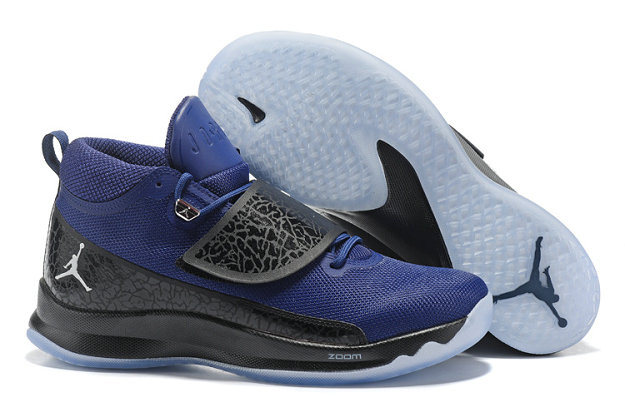 Cheap Wholesale Nike Air Jordan Super.Fly 5 Navy Blue Black White