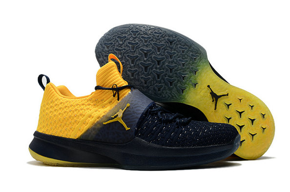 Cheap Wholesale Nike Air Jordan Trainer 2 Low Yellow Navy Blue