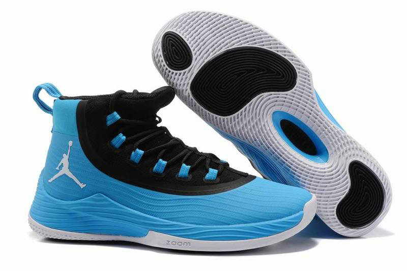 Cheap Wholesale Nike Air Jordan Ultra Fly 2 Blue Black White