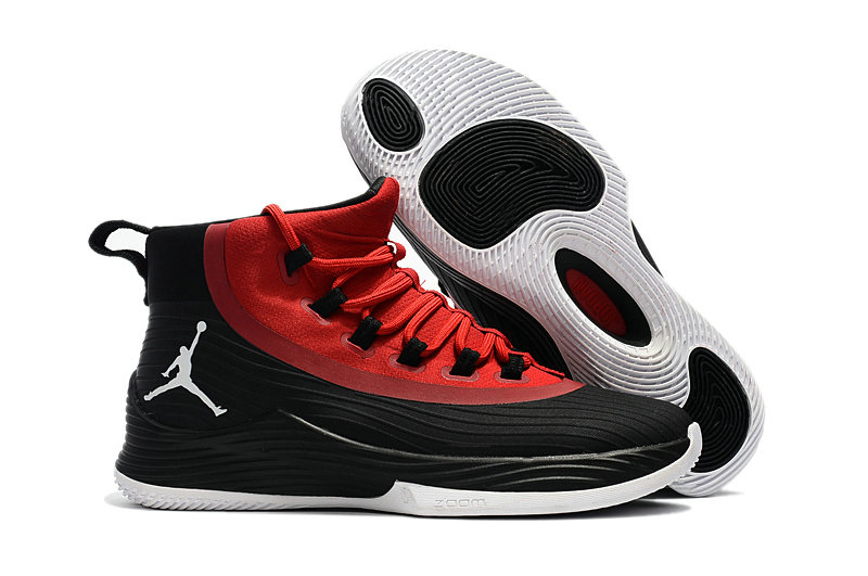 Cheap Wholesale Nike Air Jordan Ultra Fly 2 Red Lace Black White