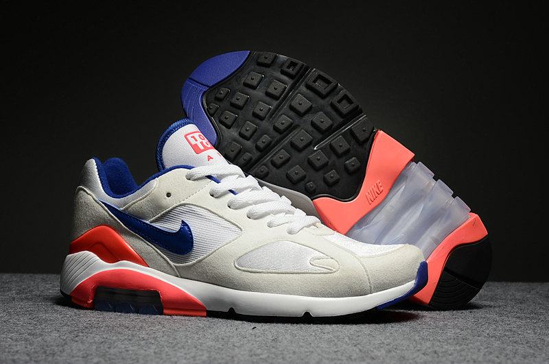 Cheap Nike Air Max 180 Mens White Blue Orange Red