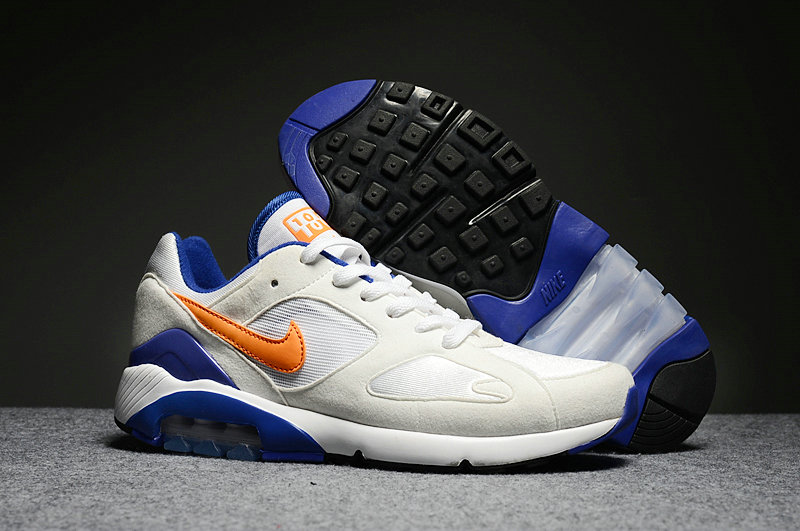 Cheap Nike Air Max 180 Mens White Orange Blue