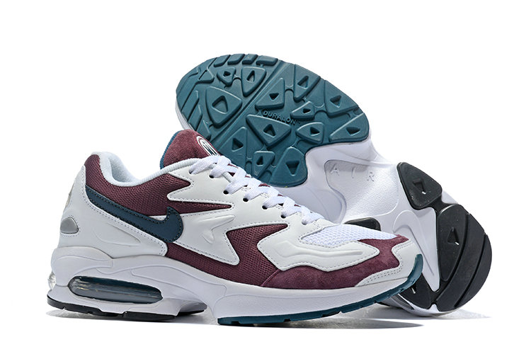 Wholesale Cheap Nike Air Max 2 Light Wine Red White Black