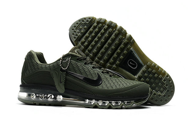 Cheap Wholesale Nike Air Max 2017 Mens Rubber Patch Army Green Black
