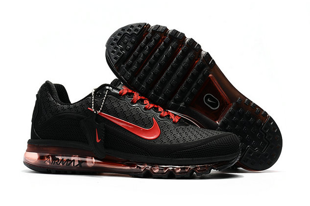 Cheap Wholesale Nike Air Max 2017 Mens Rubber Patch Red Black