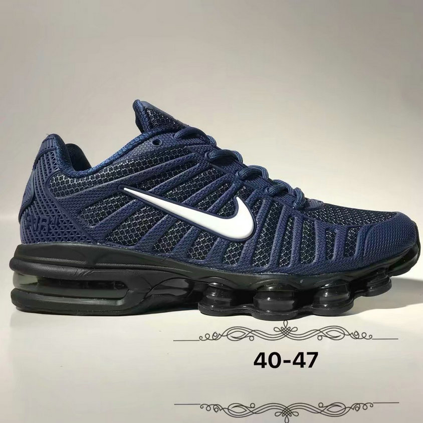 Wholesale Cheap Nike Air Max 2019 Cushion Mens Navy Blue White Black