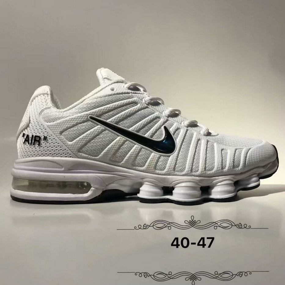 Wholesale Cheap Nike Air Max 2019 Cushion Mens White Black
